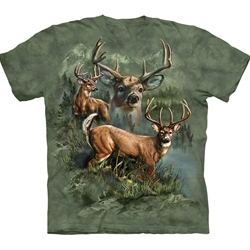 Deer Collage Adult 3X-Large T-Shirt