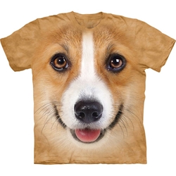 Corgi Dog Face Adult T-Shirt