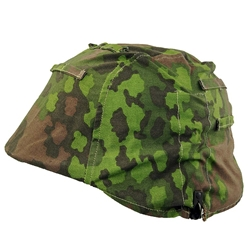 German Oak leaf A SS Mottled Camo Helmet Cover Made in USA