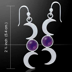 Blue Moon Silver Earrings 52-TE2856