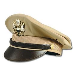 WWII Gear - U S  Army Officer's Visor Cap - Khaki