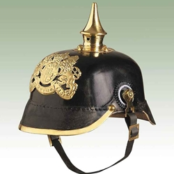 German Bavarian Infantry Helmet-WWI Leather Repro