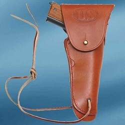 US WWII Issue .45 Hip Holster Brown