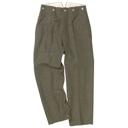 German WWII M40 Field Grey Wool Trousers 803201