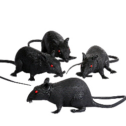 "6"" Plastic Rat (1 count) 100-196347"