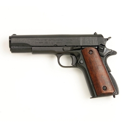 M1911 .45 Caliber Automatic Pistol Wood Grip Non Firing