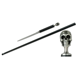 Skull Carbon Fiber Cane With Spike