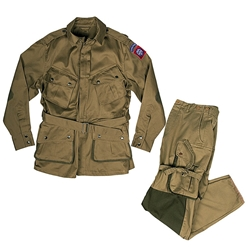 US WWII Paratrooper Pants and Jacket Set - Reinforced